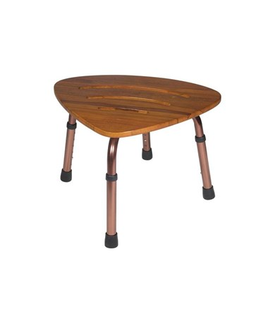 """Drive RTL12350KDR Adjustable Height Teak Bath Bench Stool"""
