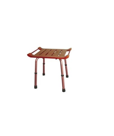 Drive RTL12351KDR Teak Height-Adjustable Shower Bench