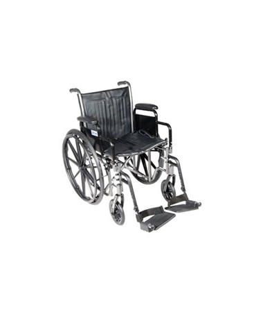 Silver Sport 2 Wheelchair with Various Arms Styles and Front Rigging Options DRISSP216FA-SF