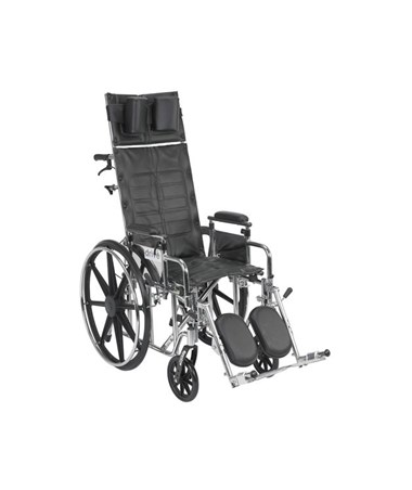 """Drive Sentra Reclining Wheelchair with Elevating Leg rest and Detachable Adjustable Height Desk Arms"""