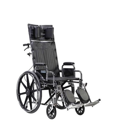 Sentra Reclining Wheelchair with Various Arm Styles and Elevating Leg rest DRISTD14RBDDA