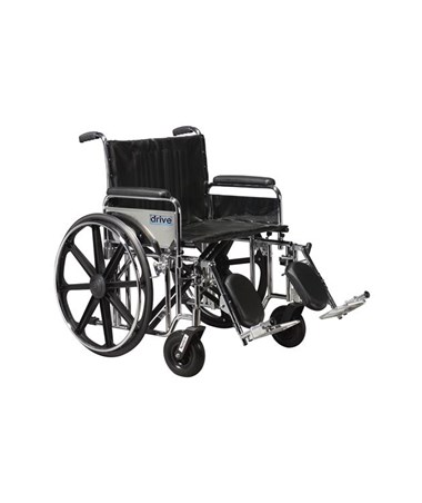 """Drive Sentra Extra Heavy Duty Wheelchair Detachable Full Arms Elevating Leg rest"""