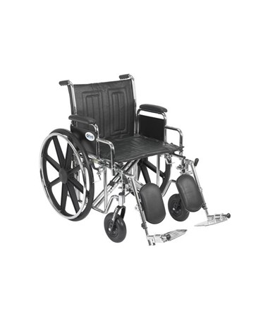 """Drive Sentra EC Heavy Duty Wheelchair - Dual Axle Detachable Desk Arms Elevating Leg rest"""
