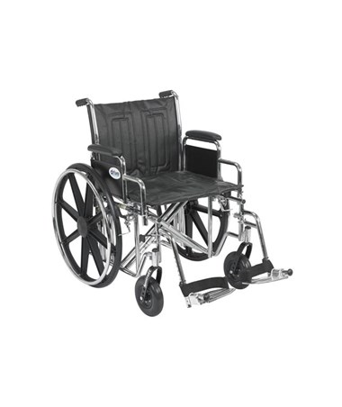 """Drive Sentra EC Heavy Duty Wheelchair - Dual Axle Detachable Desk Arms Swing away Footrest
