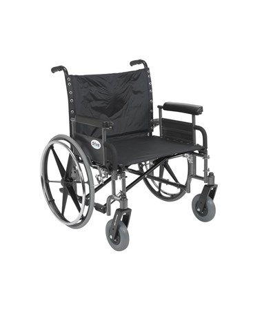 """Drive Sentra Heavy Duty Wheelchair with Detachable Full Arms"""
