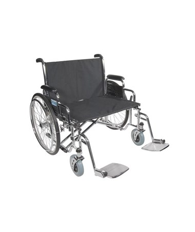 """Drive STD26ECDDA Sentra EC Heavy Duty Extra Wide Wheelchair 26"" Seat Detachable Desk Arms"""