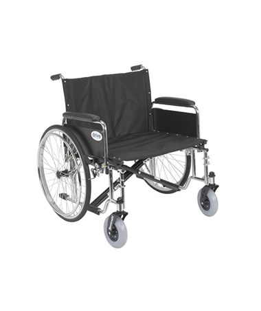 """Drive STD26ECDFA Sentra EC Heavy Duty Extra Wide Wheelchair 26 Seat Detachable Full Arms"""