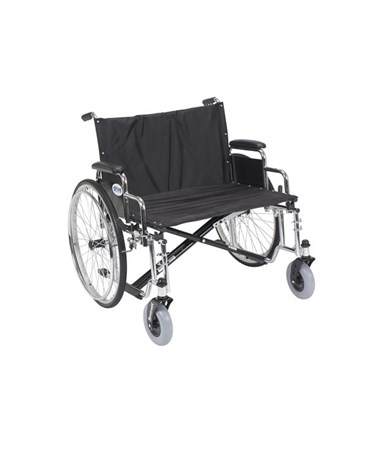 """Drive STD28ECDDA Sentra EC Heavy Duty Extra Wide Wheelchair 28 Seat Detachable Desk Arms"""""