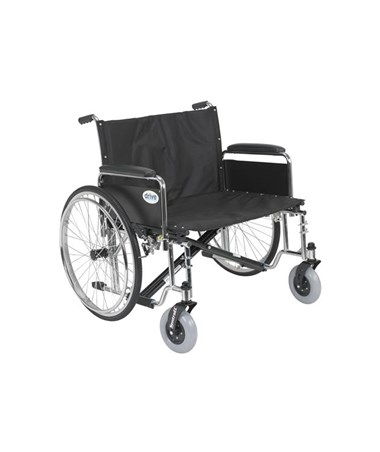 """Drive STD30ECDFA Sentra EC Heavy Duty Extra Wide Wheelchair 30 Seat Detachable Full Arms"""""