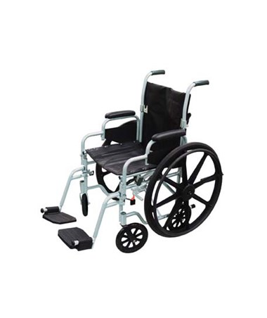 """Drive TR16 Poly Fly Light Weight Transport Chair Wheelchair with Swing-away Footrest"""