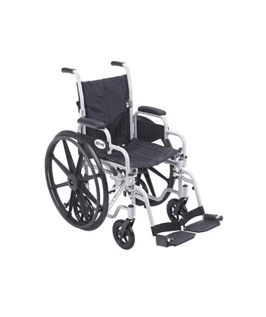 """Drive Poly Fly Light Weight Transport Chair Wheelchair with Swing-away Footrest"""