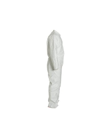 White Tyvek TY Coverall with Serged Seam and Zipper Front