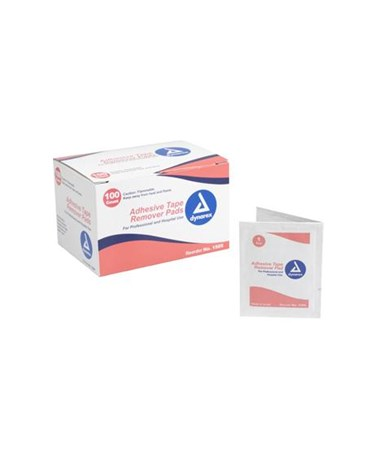 Adhesive Tape Remover Pads, 100 per box, 10 boxes Copy DYN1505