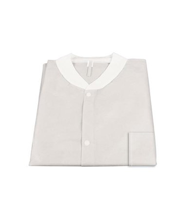 Lab Jacket SMS w/ Pockets, WHITE DYN2002
