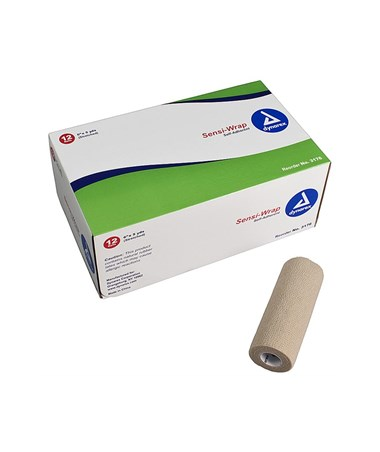 "Dynarex #3176 Sensi Wrap, Self Adherent, 6"" x 5 yards, Tan, 12 rolls per case"