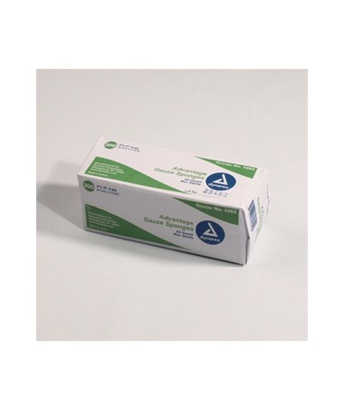 "Dynarex #3262 Gauze Sponge, Non-Sterile ""Advantage"",  Economy, 2 x 2, 8 Ply, 200 Sponges per box, 25 boxes per case, total of 5,000 Sponges"
