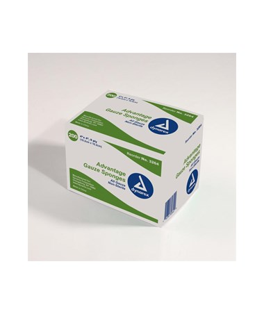 "Dynarex #3264 Gauze Sponge, Non-Sterile ""Advantage"", Economy, 4 x 4, 8 Ply, 200 Sponges per box, 20 boxes per case, total of 4,000 Sponges"