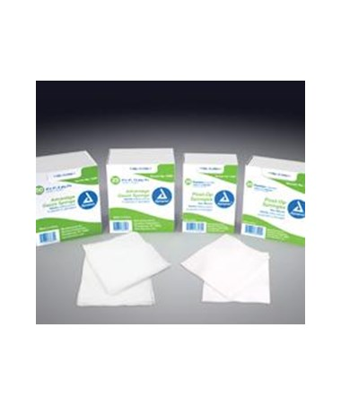 Gauze Sponge, Sterile 2/pouch, 4x4, 12 Ply, 10 Per Box, 128 Boxes Per Case, Total of 1,280 Per Case DYN3345
