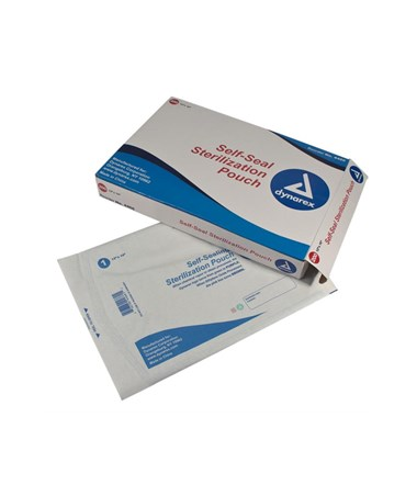 "Dynarex #4466 Self Sealing Sterilization Pouch,     12"" x 16"", 200 pouches per box, 5 boxes per case, 1000 per case"