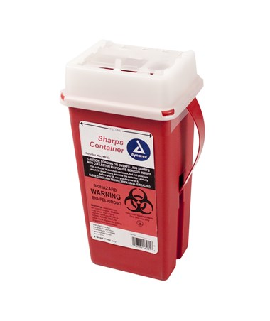 Dynarex 4623 Slide Lid Sharps Container