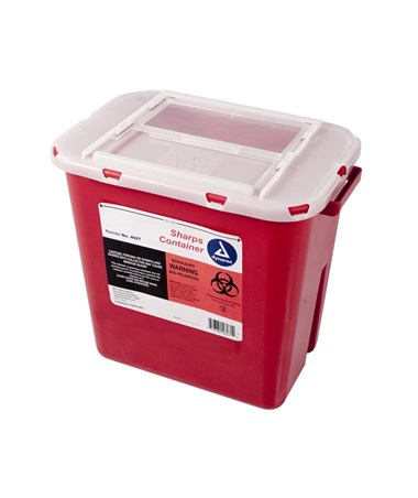 Dynarex 4627 Slide Lid Sharps Container