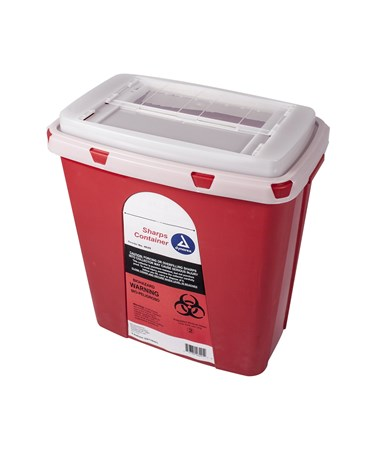 Dynarex 4629 Slide Lid Sharps Container