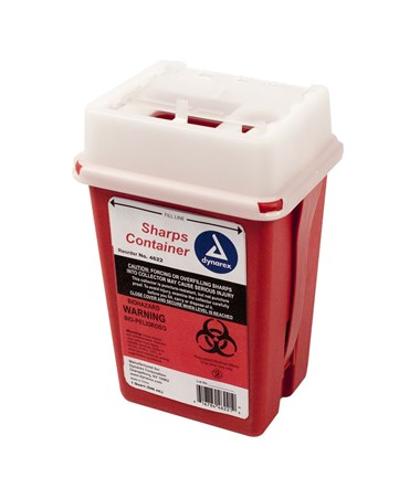 Dynarex 4622 Slide Lid Sharps Container