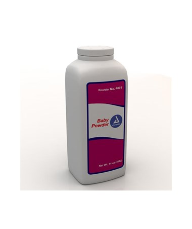 Dynarex #4875 Baby Powder, 14 oz., 24 per case