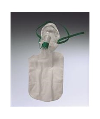 Dynarex 5301 Oxygen Mask, Elongated, Pediatric High Concentration, Non-Rebreather, 7 ft., 50 Per Case