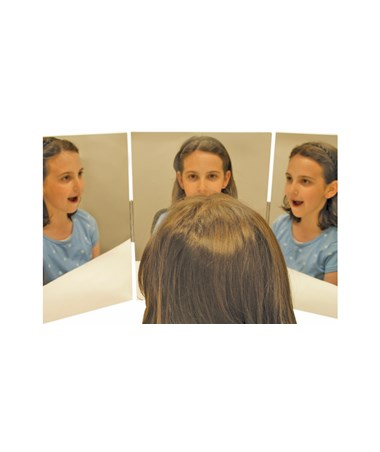 Triple Panel Glassless Speech Therapy Mirror