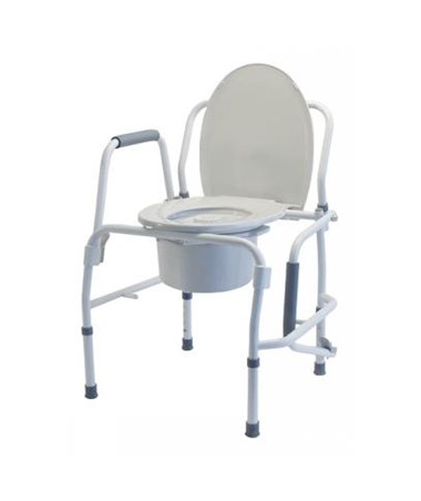 Silver Collection 3-in-1 Steel Drop Arm Commode LUM6433A