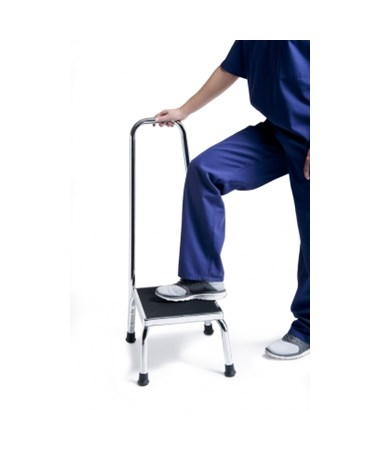 Safety Step-Up Stool with Chrome Plated Stool (GF1840C-2)