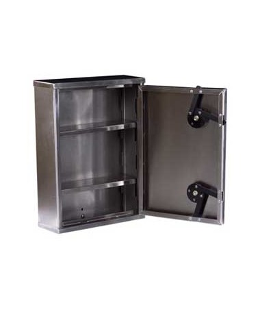 Harloff 2762 Stainless Steel Medium Double Lock Narcotics Cabinet.