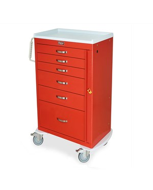 Mini Line Six Drawer Emergency Cart HAR3156B-