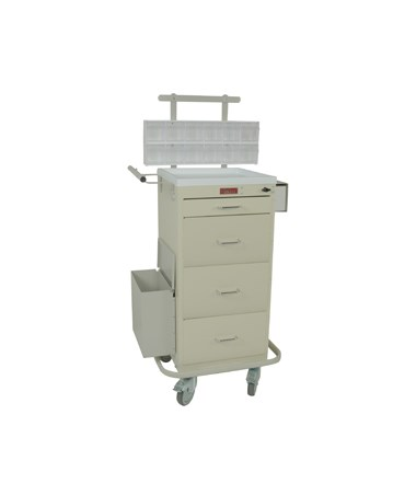 Harloff Mini Line Four Drawer Phlebotomy Cart Turn Latch