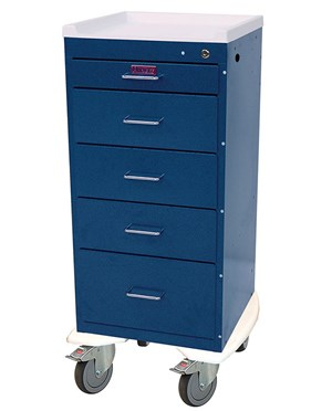 Mini Line Tall Five Drawer Anesthesia Cart HAR3255K-