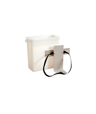 Harloff Three Gallon Plastic Waste Container with Universal Holder/Mounting Bracket