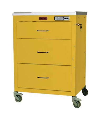 Harloff Mini24 Short Cabinet Drawer Isolation Cart with Basic Electronic Pushbutton Lock