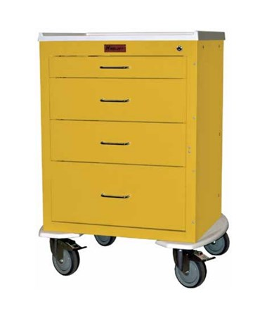Mini24 Four Drawer Infection Control Cart HAR4244K