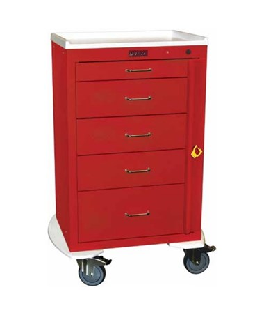 Mini24 Five Drawer Emergency Cart with Bumper HAR4255B