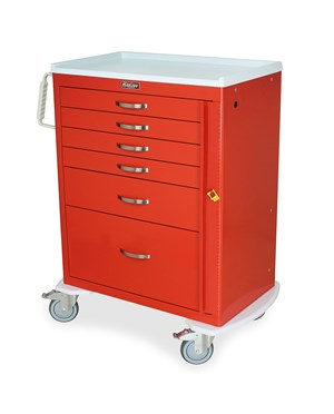 Mini24 Six Drawer Emergency Cart with Bumper HAR4256B-