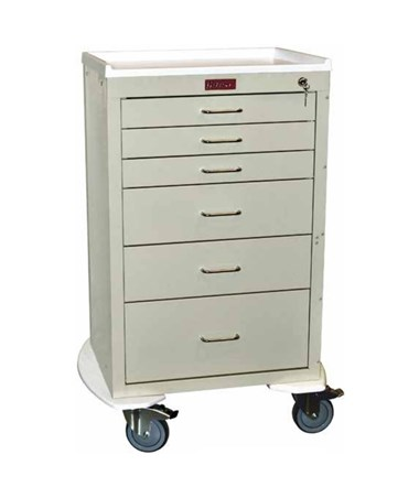 Mini24 Six Drawer Tall Cabinet Anesthesia Cart HAR4256K-