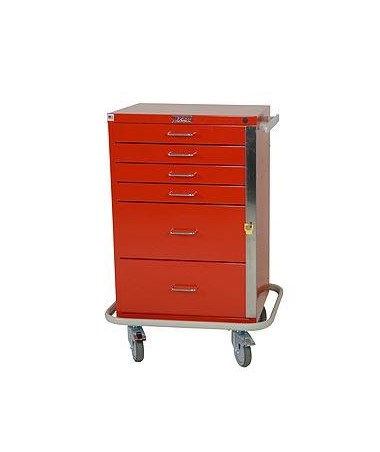 Harloff GP Line Six Drawer Emergency Cart Standard Package