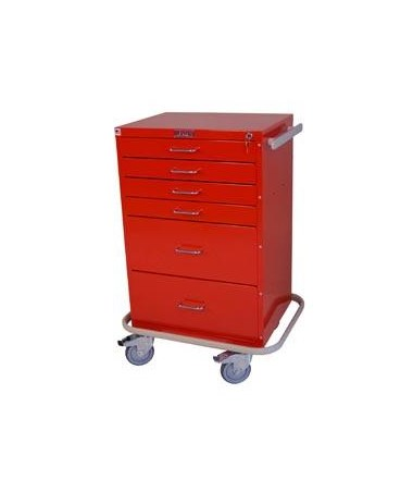 Harloff GP Line Six Drawer Treatment Cart