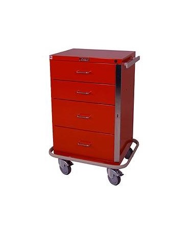 Harloff GP Line Four Drawer Emergency Cart Standard Package