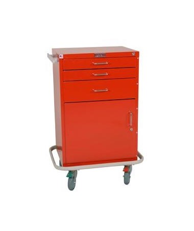 Harloff GP Line Three Drawer Treatment Cart with Storage Compartment Standard Package