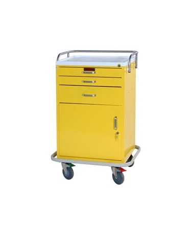 Harloff GP Line Three Drawer Treatment Cart with Storage Compartment Specialty Package