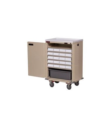 Harloff Bin Treatment Cart with Locking Doors Standard Package