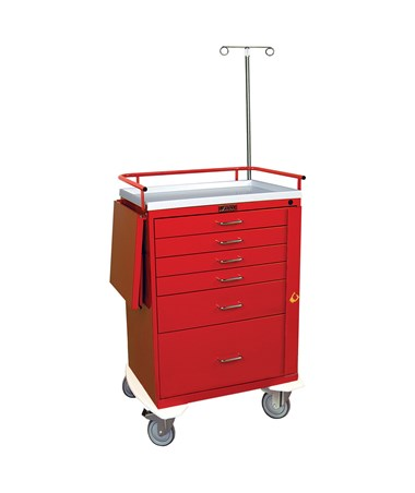 Classic Five Drawer Emergency Cart with Bottom Compartment HAR6403-