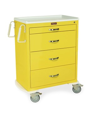 Classic Four Drawer Infection Control Cart with Key Lock HAR6520-